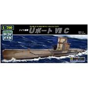 German Navy U-Boat VII C (submarino colecci?n pl?stica de 1/700 del Mundo) (Jap?n importaci?n / El paquete y el manual est?n escritos en japon?s)