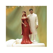 Indian Bride In Embroidered Red Dress Mix & Match Cake Topper