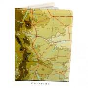 Porta Pasaportes - Estado Norteamericano De Mapa De Colorado