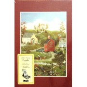 LANG Linda Nelson Stocks Art VILLAGE ON THE BAY Puzzle 300 Piece Easel Style Puzzle by Easel Style Puzzle