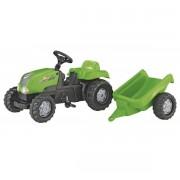Traktor na pedale sa prikolicom zeleni Rolly Toys