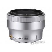Obiectiv Nikon 1 Nikkor 32/F1.2, argintiu