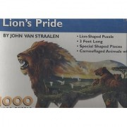 Lions Pride - By John Van Straalen - 3 Ft Long Lion-Shaped Puzzle - 1000 Pieces