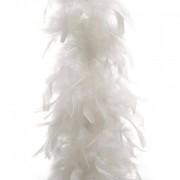 Eminza Ghirlanda boa di piuma Bianco
