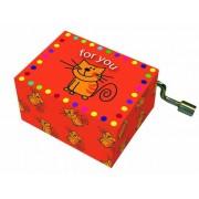 Fridolin muziekdoosje Happy Birthday for you met kat