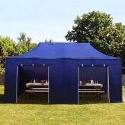 Intent24 3x6 m Tente pliante avec côtés, PREMIUM, bleu foncé