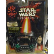 STAR WARS EPISODE I ELECTRONIC HANDHELD JEDI HUNT GAME w/ 2 COLLECTIBLE FIGURES by Tiger