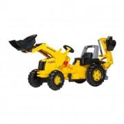 Rolly Junior New Holland pedálos markolós traktor exkavátorral