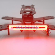 Generic Red : Higt Lighting 3 Colors in 1 RGB Strip RC LED lights 2W for Quad Racer Racing Search light / Tail light