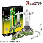 3D Puzzle Christ the Redeemer CubicFun 3D Puzzle C187h 22 Pieces Decorative Fashion Best Seller Exiting Fun Educational Historic Playing Building Game DIY Holiday kids Best Gift Toy Set
