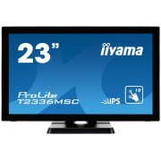 "Monitor IPS LED iiyama 23"" ProLite T2336MSC-B2, Full HD (1920 x 1080), VGA, DVI-D, HDMI, 5ms, Touchscreen, Boxe (Negru)"