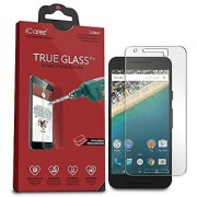 iCarez [Tempered Glass] Screen Protector for LG Google Nexus 5X Easy Wing Installation with Lifetime Replacement Warrant