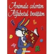 Animale coloram, Alfabetul invatam - carte de colorat
