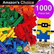 ToysOpoly 1000 Pieces Building Bricks - Compatible with Classic Legos Mini Mega Bloks Kinex Sets Creative Duplo Tyco