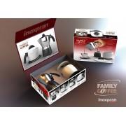 Inoxpran Family 4 személyes aluminium kávéföző díszdobozban - 107005