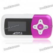 """1.1 """"LCD Mini USB Rechargeable MP3 musique haut-parleur avec fente de TF - couleur Rose"""