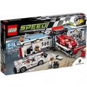LEGO velocidad Champions Porsche 919 Hybrid y 917K Pit Lane 75876 8 +