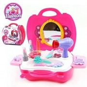 Makeup Set For Children By Glamour Girl Pretend Play Make Up Kit Gift Great For Little Girls & Kids Include 21 Packs Beauty Salon Toys W/ Make Up Box