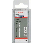 Bosch 10 BURGHIE METAL HSS-R 4,0x43x75 - BSH-2607018415