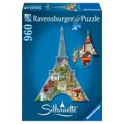 Ravensburger puzzle contur turnul eiffel, 960 piese