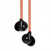 Veho 360 EP Z-1 Flex Stereo - слушалки за iPhone, Samsung, Sony и други мобилни устройства (оранжев)