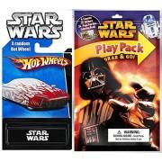 Darth Vader Star Wars Grab Play Pack Fun & Hot Wheels Exclusive Car Coloring Book, Crayons, Stickers Party Hot Wheel Star Wars Car Fun Set