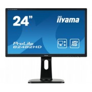 iiyama ProLite B2482HD-B1 24' LED LCD 1920x1080 250cd/m² 13cm Height adj 12M:1 ACRVGA DVI 5ms