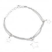 Paclo 16st43libr999 argento ag 925 bracciale galvanica rodiata multifilo stella 15 piu' 2cm