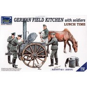 Riich Models rv35045 - Modellino German Field Kitchen with soliders (Cook & Three German soldati, Food Containers