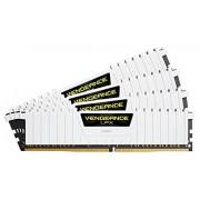 Corsair CMK64GX4M4A2666C16W Vengeance LPX 64GB (4 x 16GB) DDR4 2666Mhz Mémoire Pour Ordinateur De Bureau Haute Performance Avec Profil XMP 2.0. Blanc