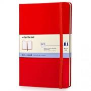 Moleskine S30345 - Cuaderno de bocetos (tamaño grande, tapa dura), color rojo