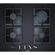 Bosch Serie 6 PPP6A6B20 - Table de cuisson au gaz - 4 plaques de cuisson - Niche - largeur : 56 cm - profondeur : 48 cm - noir - avec garnitures noires - noir
