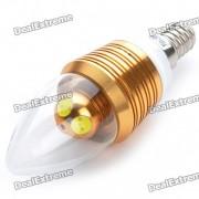 E14 4W 250lm luz blanca fria 4-LED bulbo del estilo de la vela (110 ~ 250V)