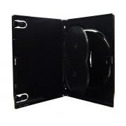 Box para DVD Amaray Triplo Preto com 50 unidades