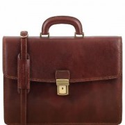 Cartable Cuir Marron Nouvelle Collection -Tuscany Leather-