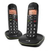 Doro PhoneEasy 100w duo Teléfono fijo digital (inalámbrico), color negro (importado)