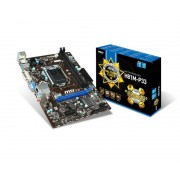 Micro-Star International MSI H81M-P33 Socket 1150 VGA DVI 8 Channel Audio mATX Motherboard