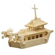 Puzzle eco 3D din lemn Vas Dragon Pebaro