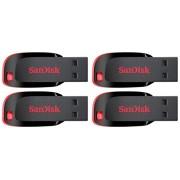 SanDisk Blade SDCZ50-008G 8GB Pen Drive, Pack Of 4 (Red & Black)