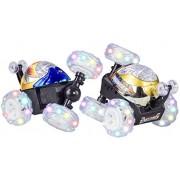 El coche del truco con mando a distancia - Stunt Car con las luces que destellan - Vehículos con función - AZUL