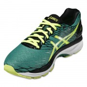 asics Gel-Nimbus 18 Shoe Men pine/flash yellow/black 42 Running Schuhe