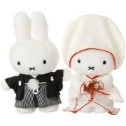 Miffy Bride and Groom Stuffed Toys in Japanese Wedding Kimono