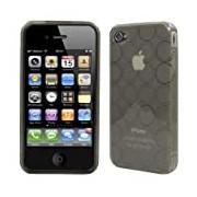 Logotrans Circle Series Custodia in silicone per Apple iPhone 4, colore: Nero