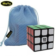 MoYu WEILONG V2 3x3 Enhanced Edition 3 Layers Magic Cube Professional Speed Puzzle Cube Brain Teasers Game Black With a Cube Bag MOYU weilong V2 3x3 Enhanced Edition 3 capas cubo mágico Puzzle Cubo rompecabezas juego profesional de velocidad con un cubo n
