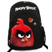 Ghiozdan, gimnaziu, negru cu rosu, ANGRY BIRDS