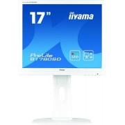"Monitor TN LED iiyama ProLite 17"" B1780SD-W1, DVI, VGA, 5 ms, Boxe, Pivot (Alb)"