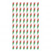 Set 8 paie de carton plastifiat alb cu dugi rosii si verzi