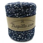 Trapillo estampado azul flores blancas 5830