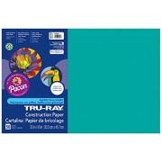 Pacon 103.039 Tru-Ray Construction Paper-- 76 -. 12 x 18-Turquesa-50 hojas / paquete