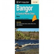 Universal Map Bangor and Central Maine Cities Fold Map (Set of 2) 14158